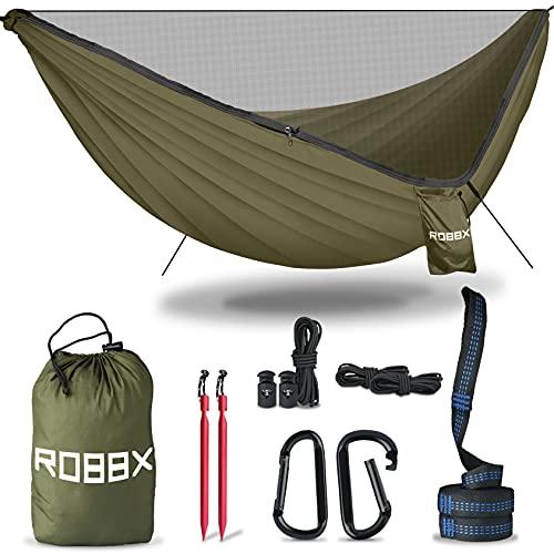ROBBX® Hängematte Outdoor mit Moskitonetz für 2 Personen - 300kg Traglast...