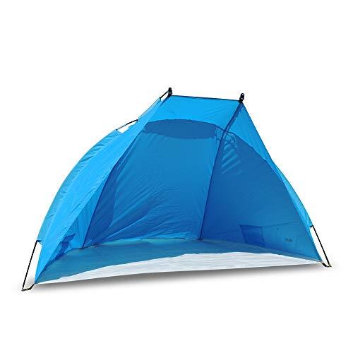 outdoorer Strandmuschel Helios - ideale Reise-Strandmuschel, UV Schutz 80, Mini-Packmaß, Strandzelt,...