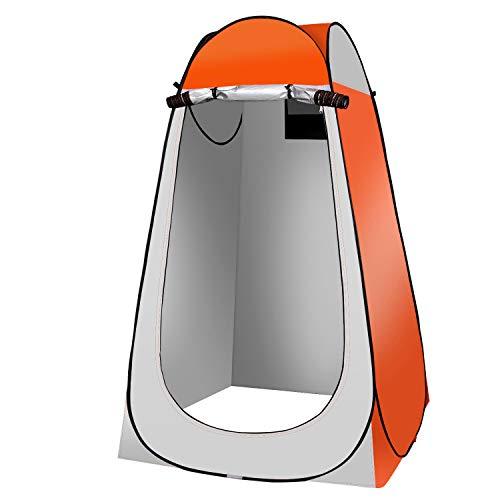 Qdreclod Camping Duschzelt Pop Up Tragbar Umkleidezelt Toilettenzelt Draussen, 120 * 120 *...
