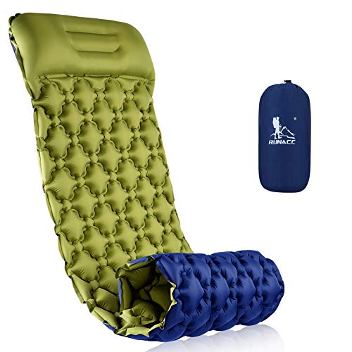 RUNACC Isomatte Camping Selbstaufblasbare, Aufblasbare Ultraleicht Luftmatratze Camping Matratze Outdoor...