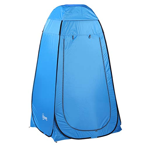 Outsunny Pop up Toilettenzelt, Mobiles Camping Duschzelt, Umkleidezelt mit Innentasche,...