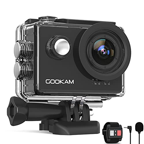 GOOKAM Action Cam 4K 60FPS 20MP WiFi Actionkamera 40M Unterwasserkamera EIS Sportkamera...