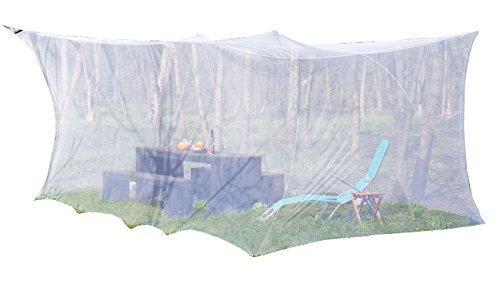 infactory Mückennetz: XXL-Moskitonetz für Innen & Außen, 300 x 500 x 250 cm, 220 Mesh,...
