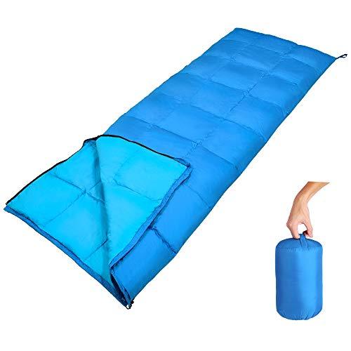 GEERTOP Daunenschlafsack Schlafsack Warm Leichtgewichtiger Komfort 10 C / 50 F mit...