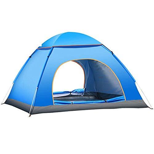 YUANJ Pop up Zelt, 3-4 Personen Ultraleichte Camping Zelt, Outdoor/Beach Wurfzelt mit...