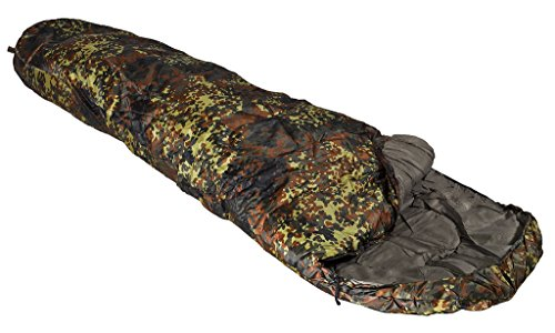 A.Blöchl AB Extra Warmer Mumien Schlafsack 2 lagig 230 x 80 cm (Flecktarn)