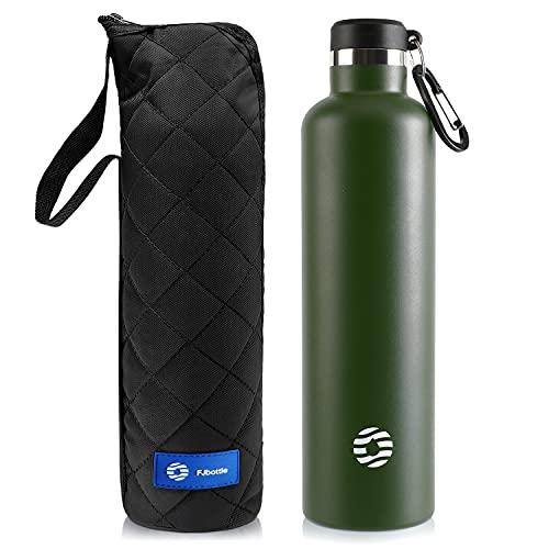FEIJIAN FJbottle 750/1000ML Vakuum Isolierte Edelstahl Trinkflasche Wasserflasche BPA-frei...