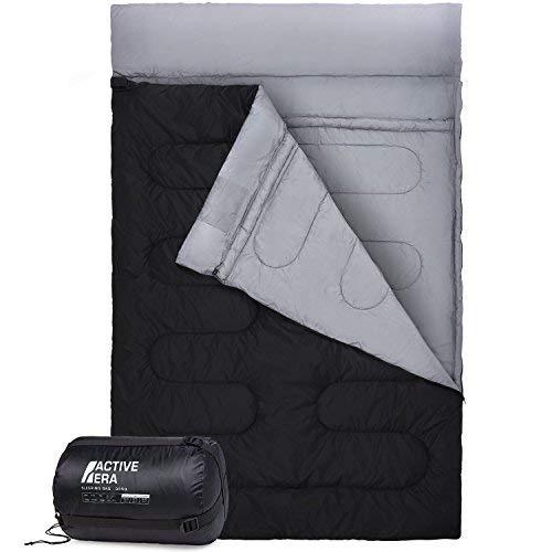 Active Era™ XL Schlafsack für 2 Personen - Großer Deckenschlafsack der in 2 Einzel...
