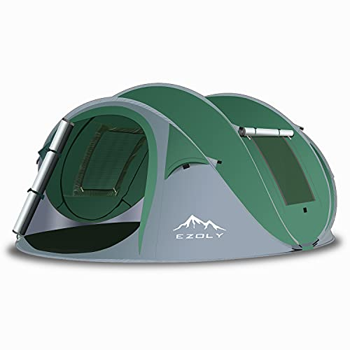 EZOLY Pop Up Zelt, Automatisches Zelte für Outdoor Camping Wurfzelt für 4 Personen...
