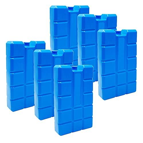ToCi 6er Set Kühlakku mit je 400 ml | 6 Blaue Kühlelemente für die Kühltasche oder...