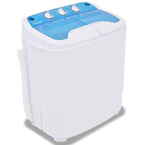 Festnight Mini Waschmaschine Campingwaschmaschine mit Schleuder und 2 Kammern 5,6 kg