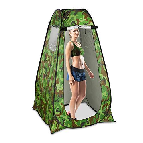 Relaxdays Duschzelt, Pop Up Stehzelt für Camping, Garten & Outdoor, Umkleide-& WC-Zelt,...