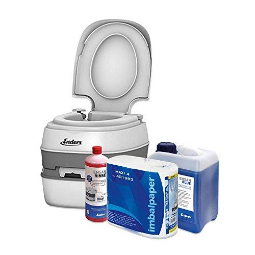 Enders Campingtoilette Starter-Set Blue 2,5 Liter Comfort 4945 inkl. Sanitärflüssigkeit...