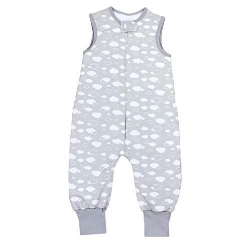 TupTam Baby Unisex Winter Schlafsack mit Beinen, Farbe: Wolken Grau, Größe: 116-122