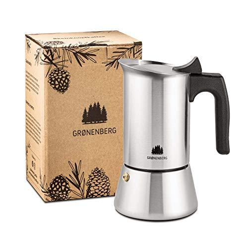 Groenenberg Espressokocher Induktion geeignet   Edelstahl   4-6 Tassen Espressokanne  ...