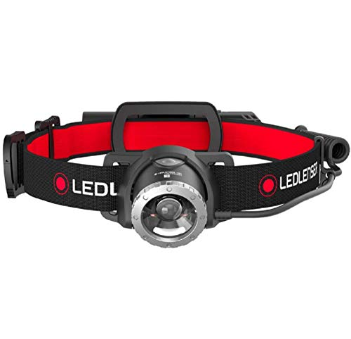 Ledlenser H8R, LED Stirnlampe, 600 Lumen, bis zu 120h Laufzeit, rotes Rücklicht, inkl....