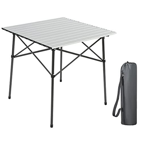EVER ADVANCED Campingtisch Klapptisch mit Aluminium Tischplatte faltbar klappbar tragbar...