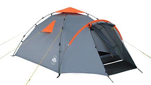 Lumaland Outdoor Pop Up Familienzelt Wurfzelt 3 Personen Zelt Camping Festival etc. 220 x 220 x 130 robust...