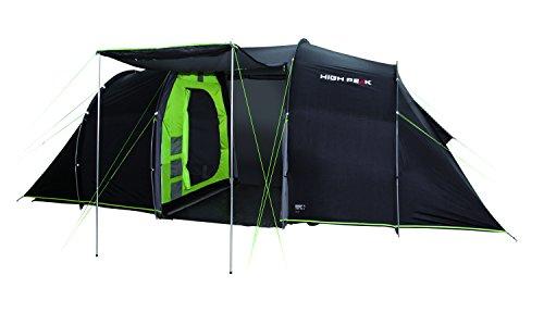 High Peak VIS-A-VIS Tunnelzelt Tauris 4, 4 Personen Campingzelt mit Stauraum und...