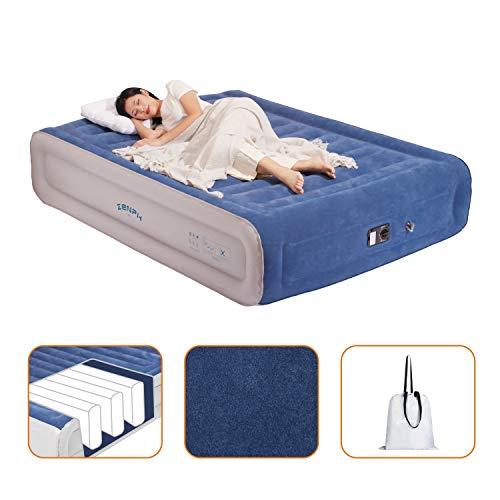 Zenph Luftbett Queen Size Aufblasbare Luftmatratze Doppelbett Gästebett mit eingebauter,...