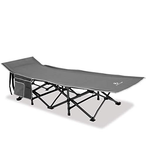 ALPHA CAMP Campingbett faltbar XL leicht mit Seitentasche, Feldbett klappbar Eisen bis 250...