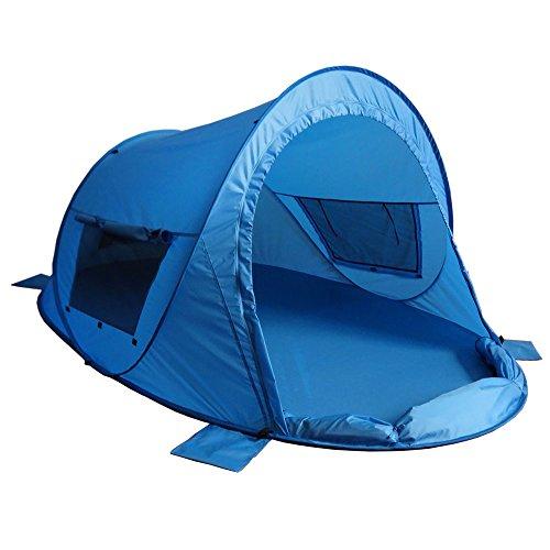 outdoorer Pop up Strandmuschel zum Verschließen Zack Premium Family - großes Strandzelt, verschließbar, UV...