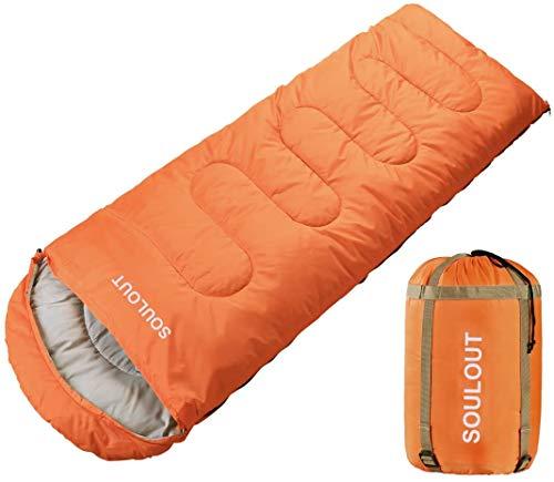 SOULOUT Schlafsack 3-4 Jahreszeiten - Wasserdichter Leichter Deckenschlafsack für...