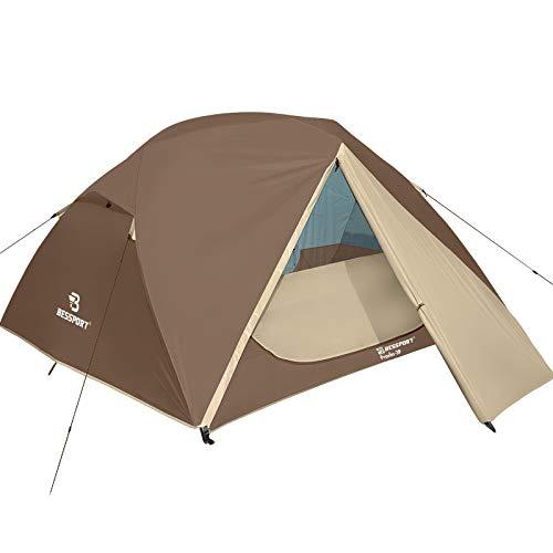 Bessport Camping Zelt 3 Personen Ultraleichte Zelt Wasserdicht 3-4 Saison Zwei Türen...