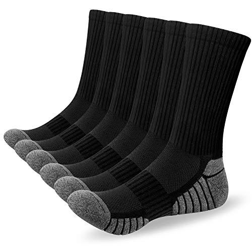Alaplus 6 Paar Sneaker Socken Herren 43-46 Damen Wandersocken Warme Crew Sportsocken...