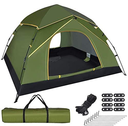 GEEDIAR Zelt Pop Up für 3-4 Personen, automatisches sofort tragbares Kuppelzelt...