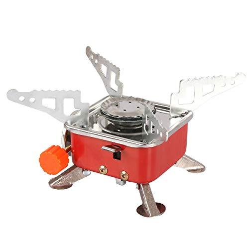 Qdreclod Gaskocher Tragbarer Mini Gas Campingkocher mit Piezozündung, Ultralight Faltbarer Kochherd...