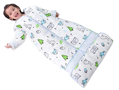 Chilsuessy Winter Schlafsack 3.5 Tog Kinder Schlafsack mit abnehmbaren Ärmeln Bio...