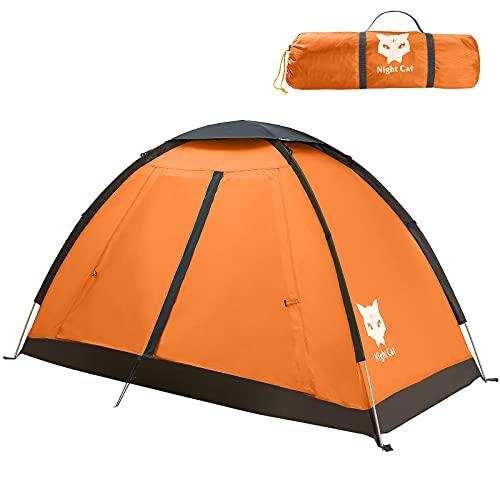 Night Cat Campingzelt für 1 2 Person Mann Zelte wasserdichte Rucksackzelte Einfache...