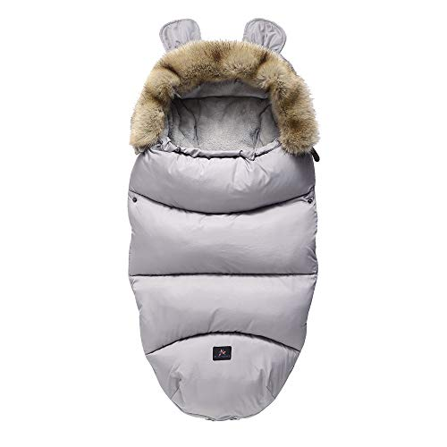 Drizzle Baby Swaddle Decke Indoor Outdoor Flanell Anti Kick Baby Schlafsack Wasserdicht Warm für Kleinkinder...