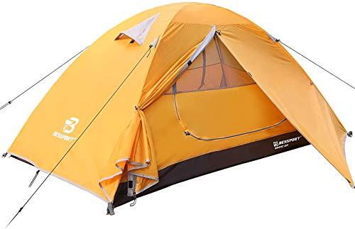 Bessport Zelt 2 Personen Ultraleichte Camping Zelte 3-4 Saison, Wasserdicht Zelt Kleines...