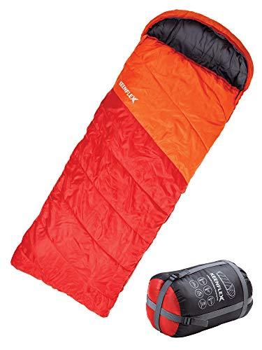 KeenFlex Schlafsack 3 Jahreszeiten Deckenschlafsack Ideal für Camping Backpacking oder...