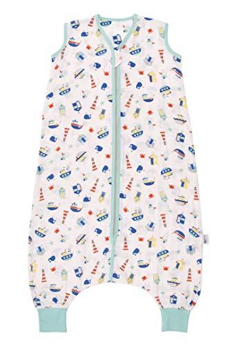 Schlummersack Baby Schlafsack mit Füßen Sommer 0.2 Tog 130 cm dünn Boote   Schlafsack...