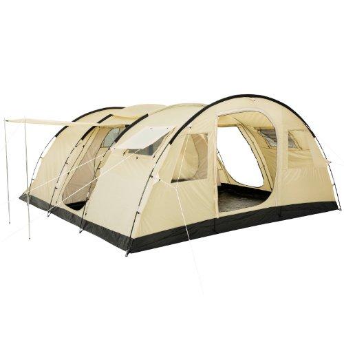 CampFeuer Tunnelzelt Caza Zelt für 6 Personen | riesiger Vorraum, 5000 mm Wassersäule |...