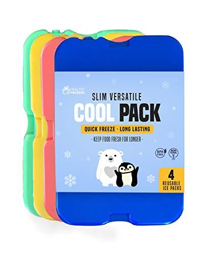 Kühlakku für Lunch, Kühltasche und Kühlbox – Das Original Cool Pack | Extra Dünn & lange Kühlleistung...