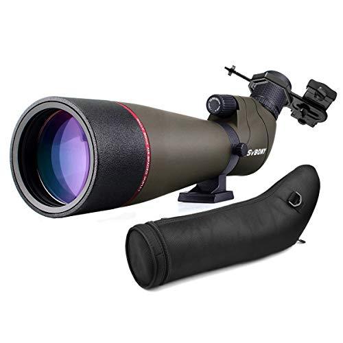 Svbony SV13 Spektiv mit Handy Adapter 20-60x80, HD FMC-Optik Porro-Prisma mit...