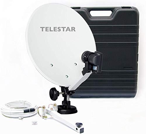 Telestar Camping-Sat-Anlage (Hartschalenkoffer, 13,7 Zoll (35 cm) Spiegel , Single-LNB...