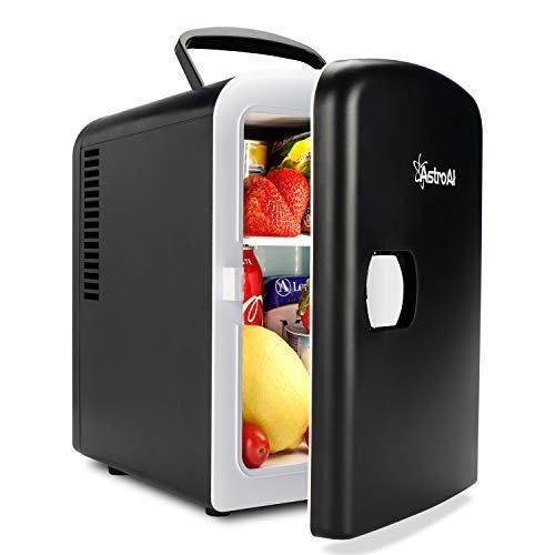 AstroAI 2 in 1 Mini Kühlschrank 4 Liter Fridge mit Kühl- und Heizfunktion 12 Volt am Zigarettenanzünder und...