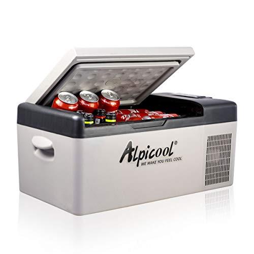 Alpicool C15 Kühlbox 12v Mini Kühlschrank Elektrische Camping-Gefrierbox Klein Tragbare...