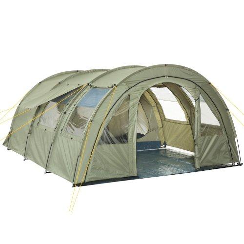 CampFeuer Tunnelzelt Multi Zelt für 4 Personen | riesiger Vorraum, 5000 mm Wassersäule |...