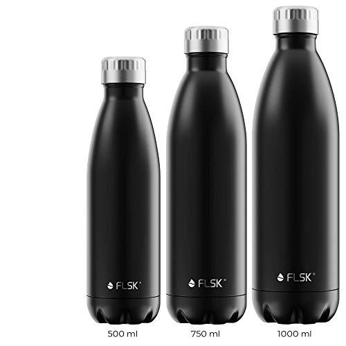 FLSK Das Original New Edition Edelstahl Trinkflasche • 750ml • Kohlensäure geeignet...