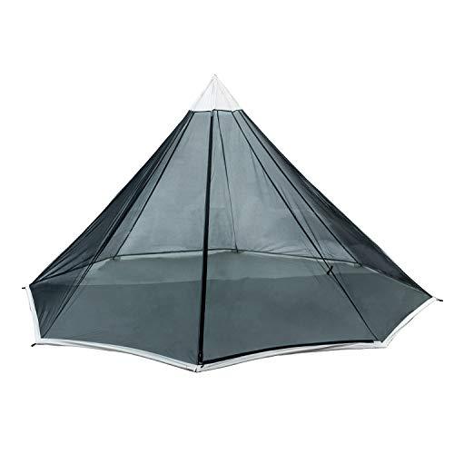 OneTigris | Black Orca Chimney Tipi Zelt mit Herd Loch, 2 Personen Smokey Hut Zelt für Trekking Camping...