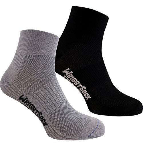 Wrightsock Profi Sportsocke - Coolmesh II Quarter I Anti-Blasen-Socken Runningsocken mittellange Socken...