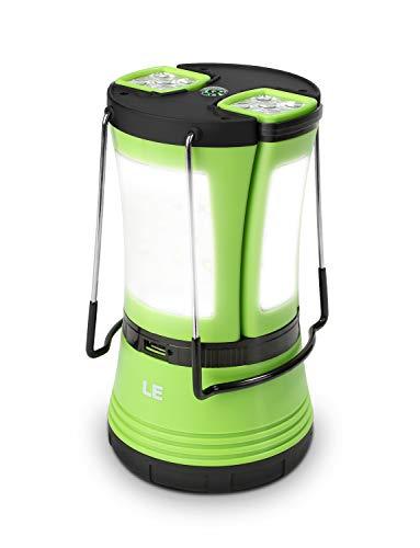 LE LED Campinglampe mit 2 abnehmbaren Taschenlampen, Batteriebetrieben & 1800mAh Akku...