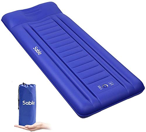 Sable Isomatte Camping Handpresse aufblasbare Luftmatratze Kleines Packmaß und Leichte...