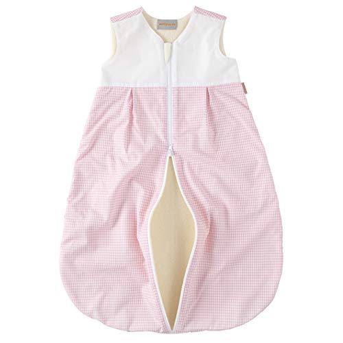 wellyou, Kinder-Baby-Schlafsack, mit Fleece gefüttert, rosa-weiß Vichykaro, für...